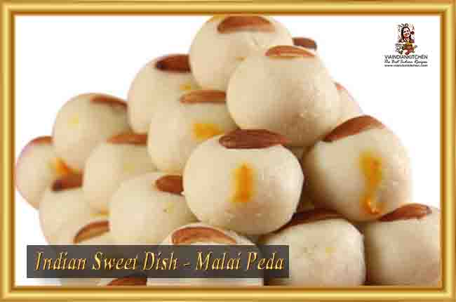 Indian Sweet Dishes - Malai Peda