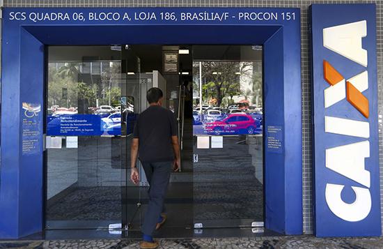 Agência da Caixa em Brasília. Café com Jornalista