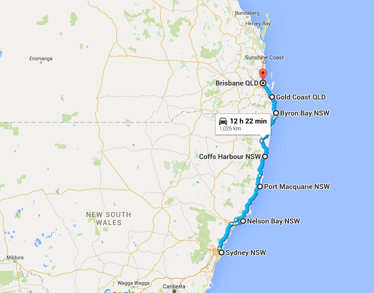 12 Days Road Trip Sydney To Gold Coast