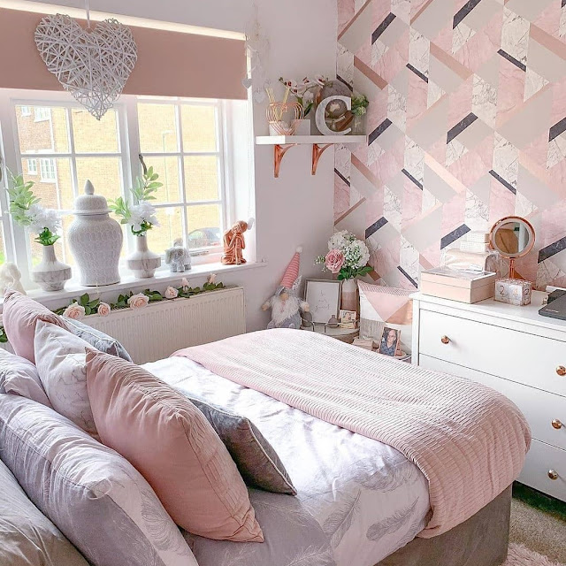 Desain Kamar Tidur Minimalis Nuansa Shabby Chic