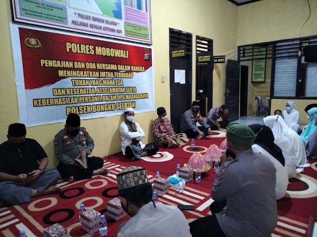 Dalam Rangka Meningkatkan Iman Dan Taqwa,Polres Morowali Giat Pengajian Dan Do'a  Bersama