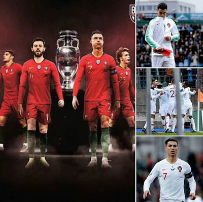 FT: Luxembourg 🇱🇺 0-2 Portugal 🇵🇹...B.Fernandez ⚽️...C.Ronaldo ⚽️...Portugal secure EURO 2020 qualification as #Cristiano #Ronaldo moves on to 99 international goals! 🇵🇹...In Euro 2020🇵🇹...#Forca_Portugal🇵🇹. #CR7.