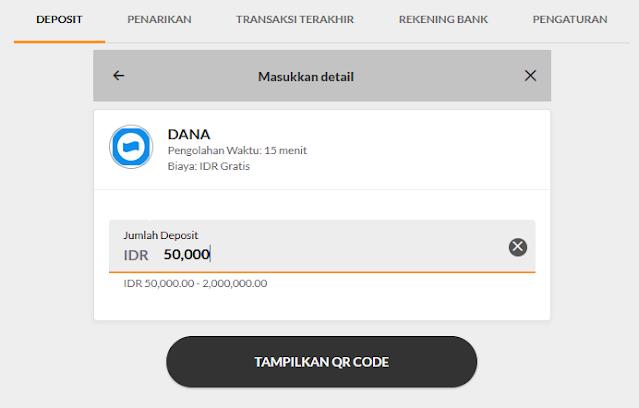 tampilan deposit 188bet lewat DANA