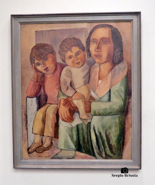 Close-up da Obra Família do Pintor - Museu Lasar Segall - São Paulo