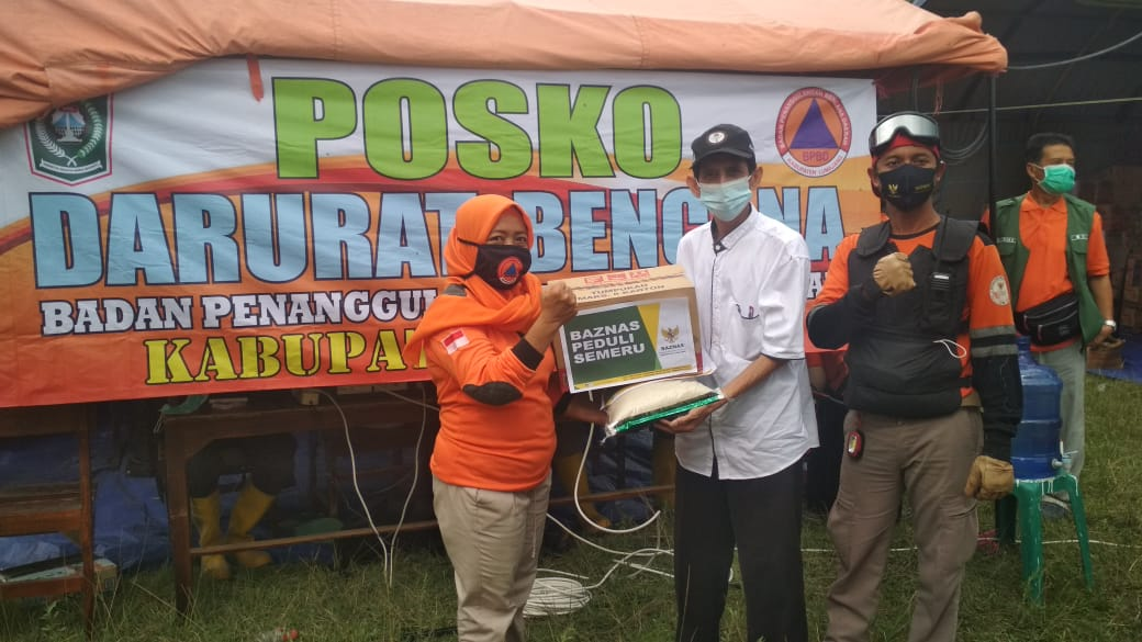 Baznas Lumajang Telah Bantu Korban Bencana Semeru