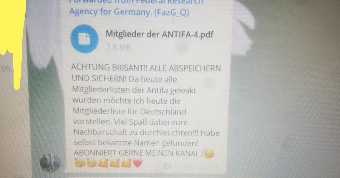 Antifa Mitgliederliste
