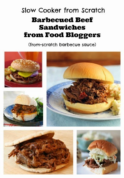 Slow Cooker Barbecued Beef Sandwiches with Homemade Sauce found on SlowCookerFromScratch.com
