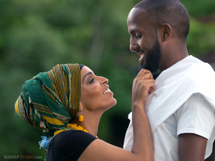 Ann Arbor Engagement Session in African Ethnic Clothes - SudeepStudio.com