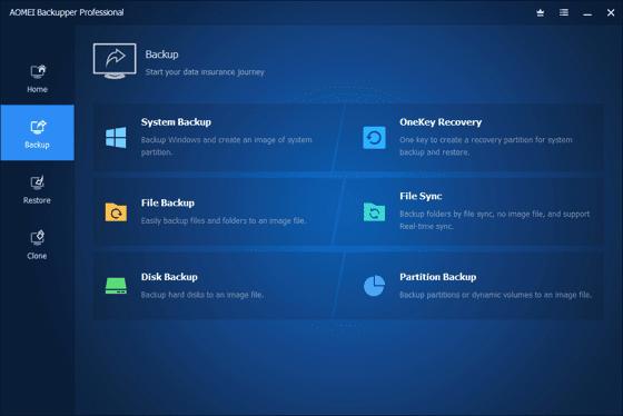 AOMEI Backupper Pro Full Main Windows