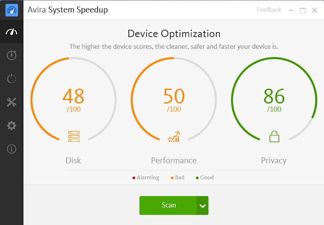 Main features of Avira System Speedup 2.5.6.2633