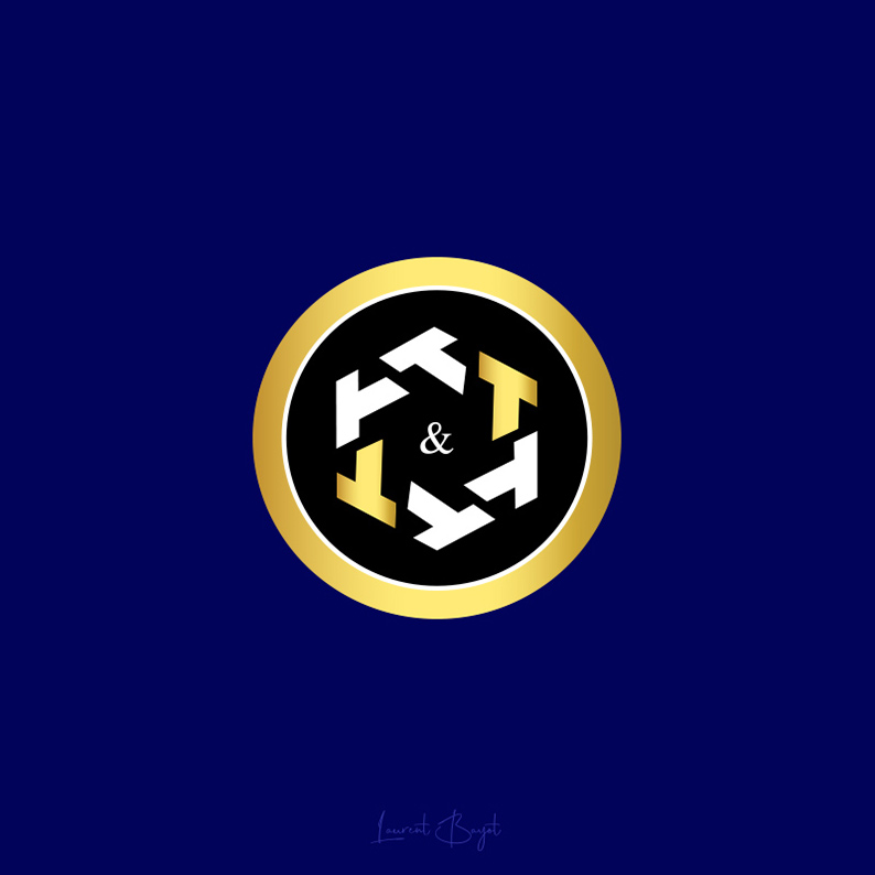 logo rond or symbolique