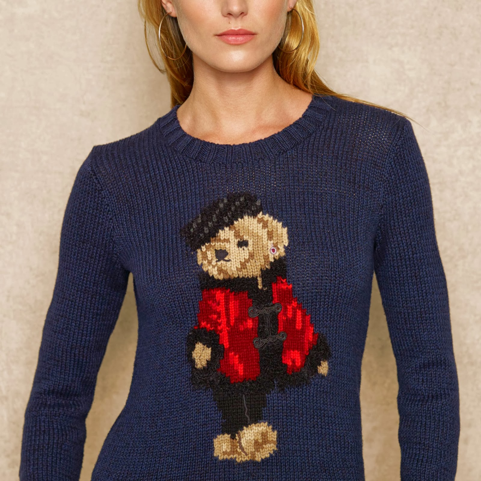 b56299b464e52 Polo Ralph Lauren Bear Intarsia Wool Blend Sweater