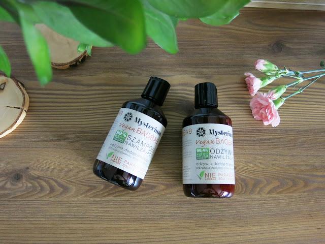 Wegański szampon oraz odżywka do włosów | Mysterium