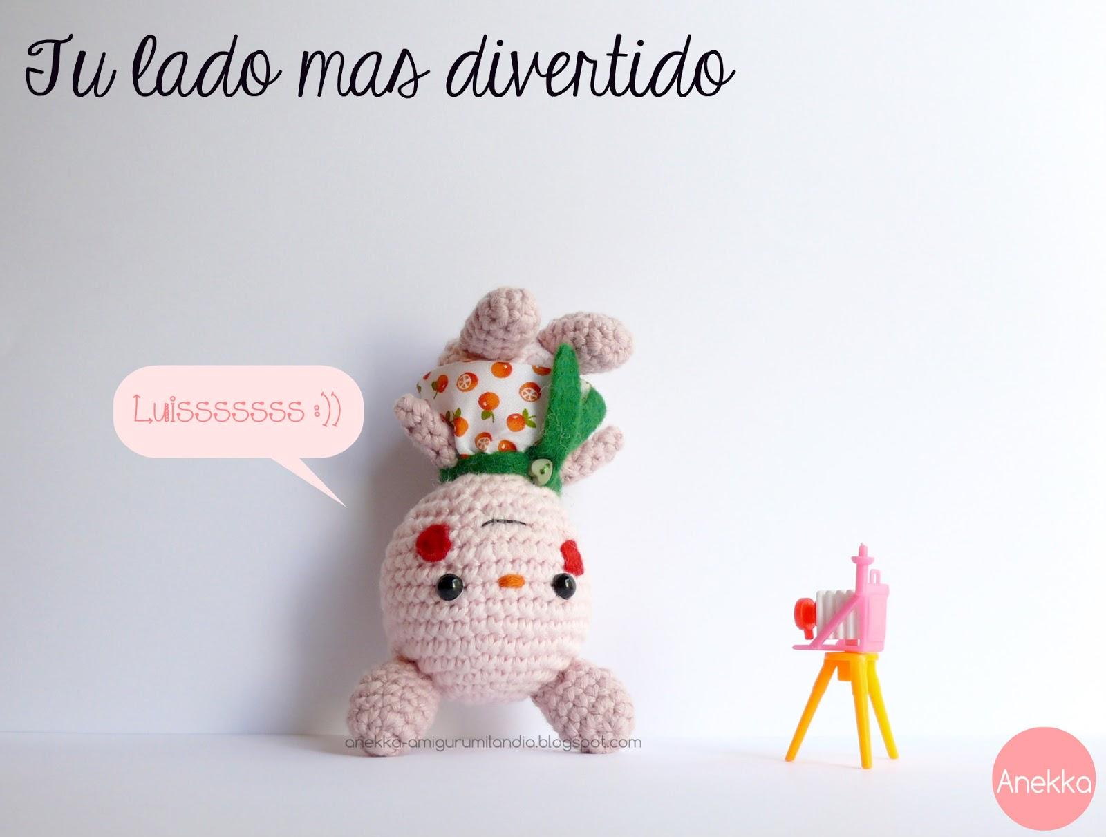 amigurumi conejito rosa