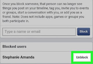 unblock user