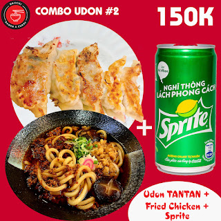 Udon TANTAN Fried Chicken Sprite