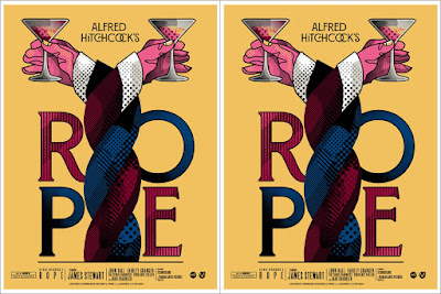 Alfred Hitchcock's Rope Movie Poster Screen Print by We Buy Your Kids x Mondo