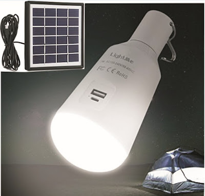 LightMe Solar Bulb: Outdoor Sunlight-Powered Rechargeable LED Light for Camping