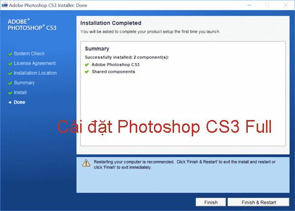 Hướng dẫn cài đặt Photoshop CS3 Full đơn giản, nhanh chóng d