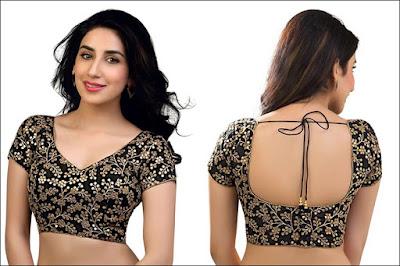 Fancy-saree-blouse-back-neck-designs-pattern-for-women-3