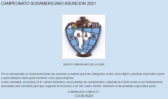 SUDAMERICANO SENIOR ASUNCION 2021 DEL 16 AL 19/12/2021