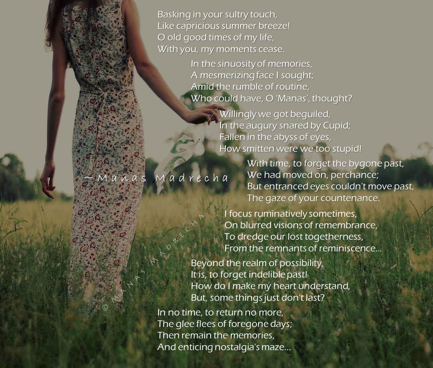 girl and nature, girl in garden, girl in forest, happy girl, summer girl, spring girl, Manas Madrecha, Manas Madrecha quotes, Manas Madrecha poems, Manas Madrecha blog, teenage blog, youth blog, motivational blog, inspirational blog, personal blog, memories poem, nostalgic poem, nostalgia, english poems, poem on love, poem on past, poem on memories, simplifying universe, girl turned away, girl back, love story, remembering the past