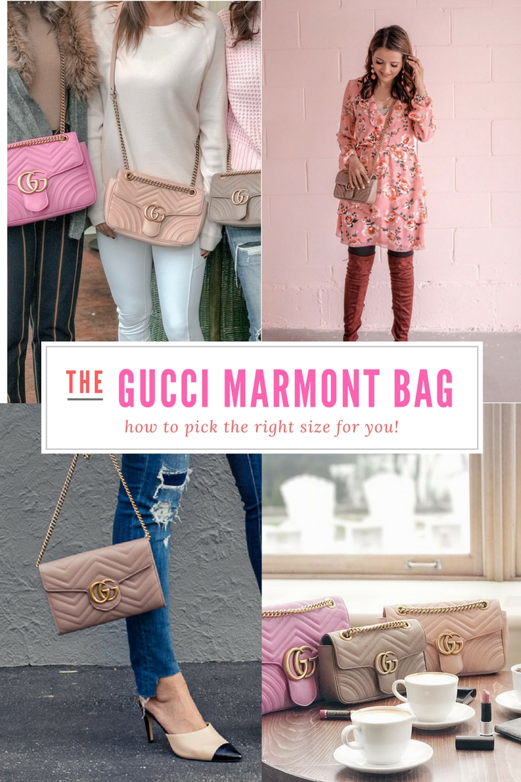 13355c6a630a83 Comparing the Different Sizes of the Gucci GG Marmont Matelasse Shoulder  Bag ...