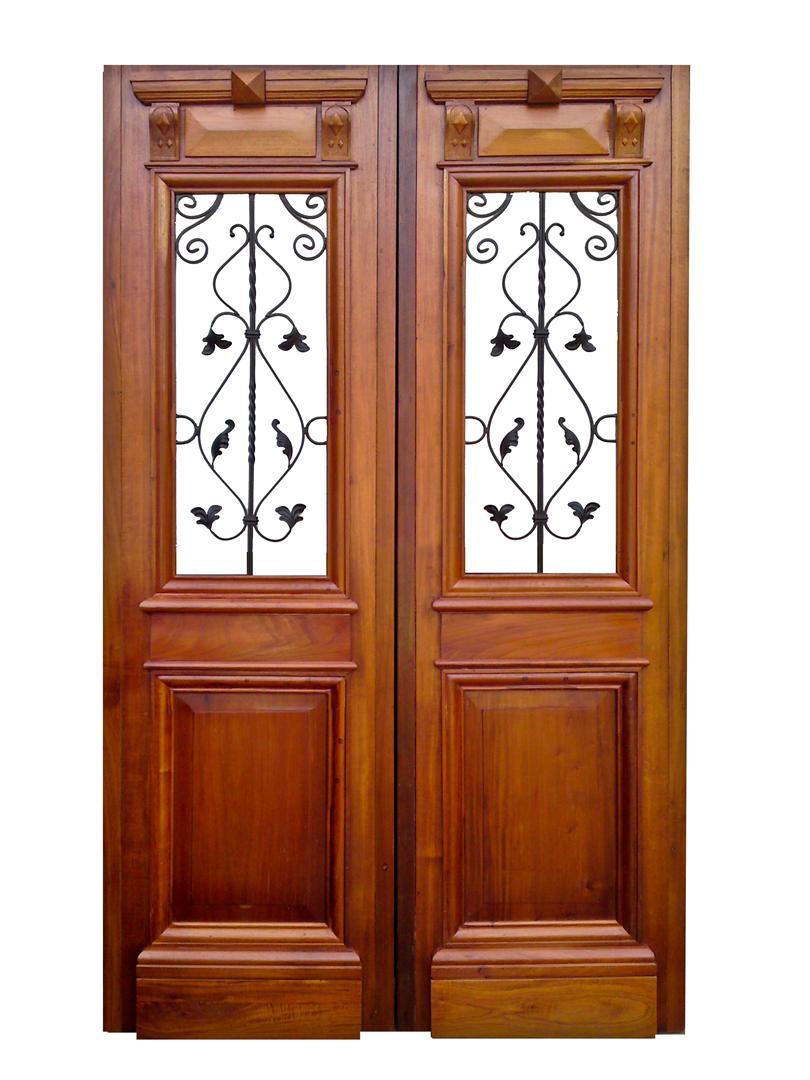Atelier carpinter a puertas de entrada 2 hojas for Puertas de madera y hierro antiguas