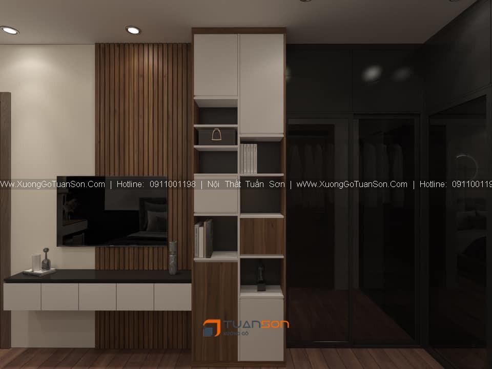 Thiết kế nội thất căn hộ số 10 (79.2m2) 2PN Phương Đông Green Park