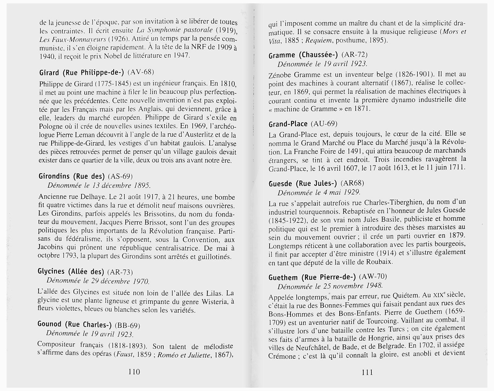 Ravet-Anceau - Au fil des Rues, Histoire et Origines des Rues de Tourcoing