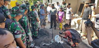 Tim Wasev Mabes TNI AD Kunjungi TMMD 105 Kodim Klungkung