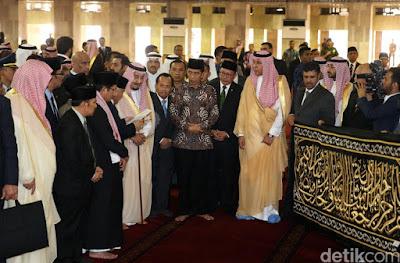Raja Salman Mengagumi Masjid Istiqlal Jakarta