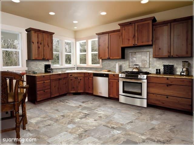 اشكال مطابخ خشب 13   wood kitchens shapes 13