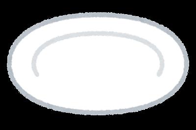 平皿のイラスト(食器)