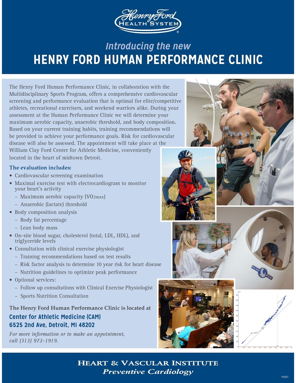 Vegan Road Runner: Henry Ford Human Performance Clinic
