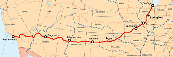 Todays News Route US History - Us i 40 map