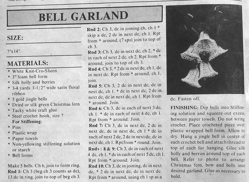 Ergahandmade Crochet Bell Garland Free Pattern