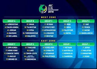 Jadwal Piala Asia U-16 2017/18