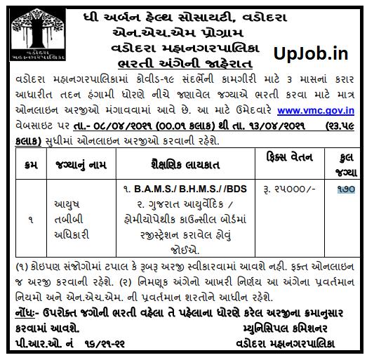 170 Post Medical officer vmc.gov.in Government Job Recruitment Notification 2021