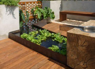 taman sederhana di dalam rumah