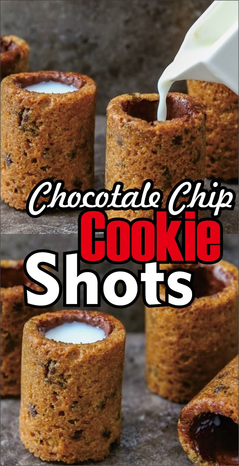 Chocotale Chip Cookie Shots Christmas Cookies Easy Kraft Recipes