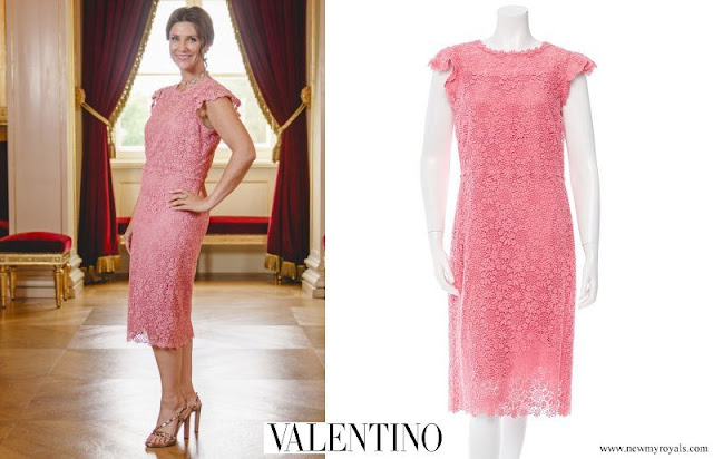 Princess Martha Louise is wearing a Valentino dress. Crown Princess Mette-Marit wore the same dress