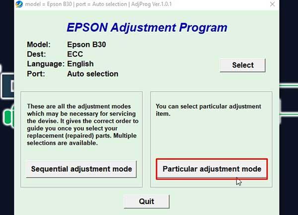 reseteador para impresora epson B-500DN