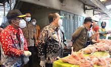 Sidak Pasar Jelang Lebaran, Wabup Sanggau: Bahan Pokok Harganya Relatif Stabil