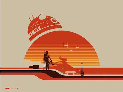 "C2E2 2017 Exclusive Star Wars The Force Awakens ""Rey (Jakku)"" Screen Print by Justin Van Genderen x Galerie F"
