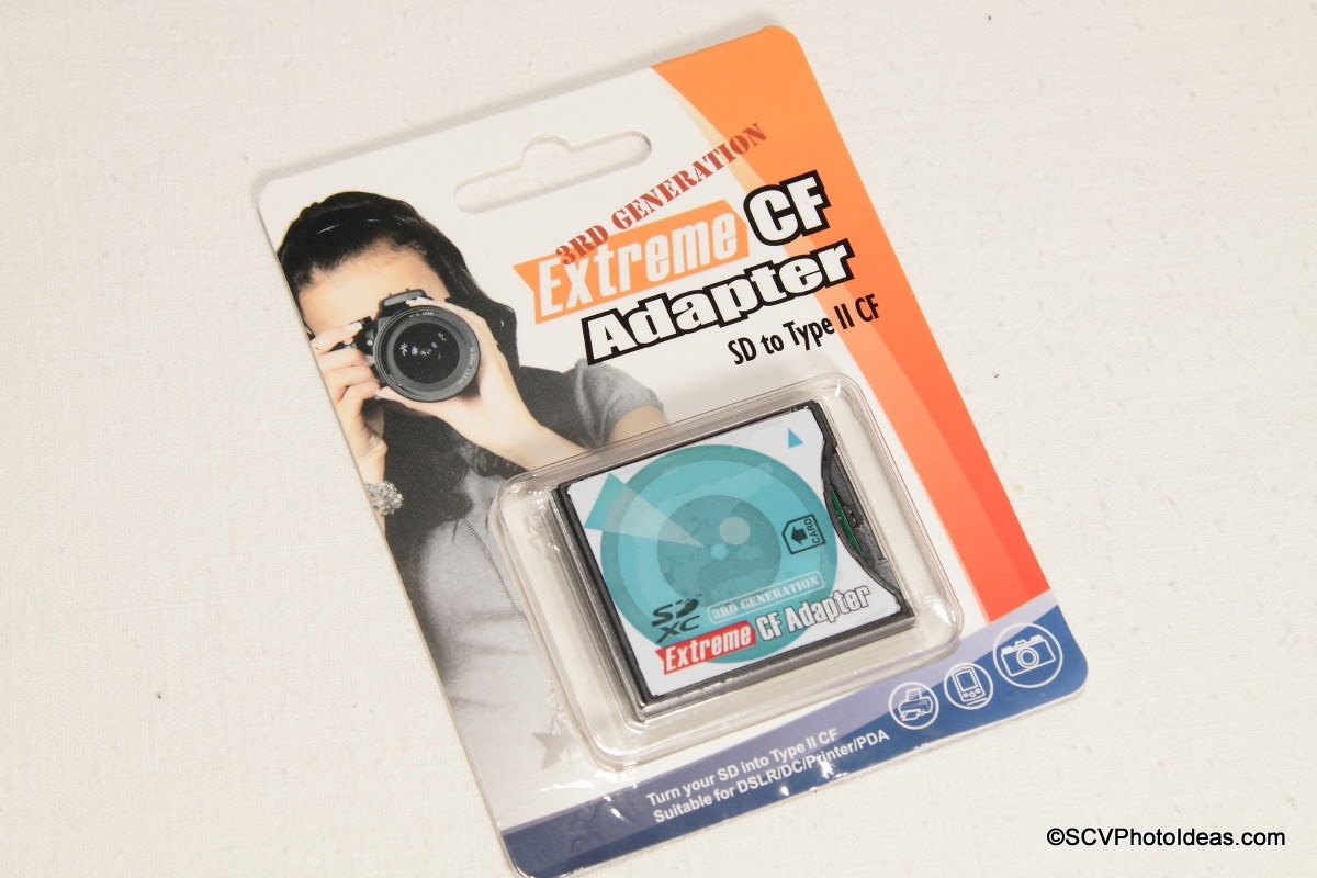 SD/SDHC to CF Extreme High Speed Adapter pack front