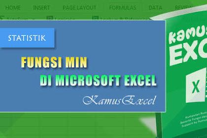 Rumus MIN (Fungsi MIN) di Microsoft Excel