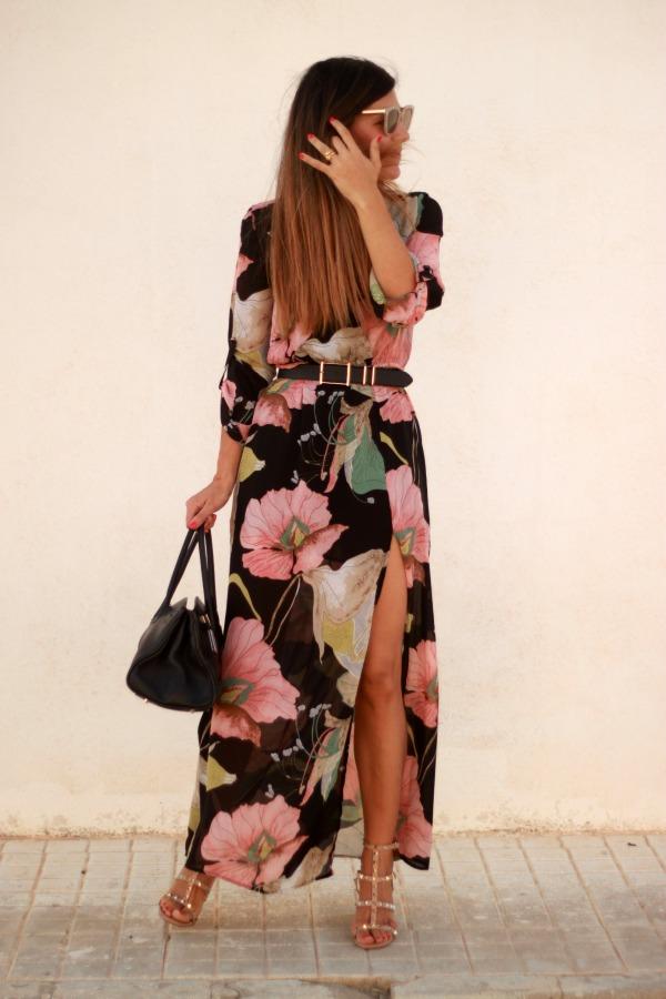 Vestido largo, maxivestido camisero, long dress,