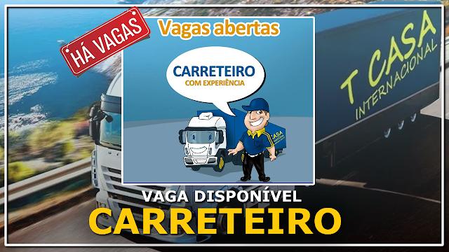 Transcasa Transportes abre vagas para Motorista Carreteiro