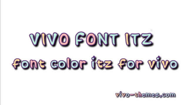 Colorful Font ITZ